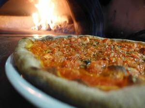 Pizza Forno Di Pietra Fuoco Fuoco Di Legna