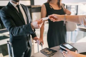 business-people-makes-card-payment-check-reception